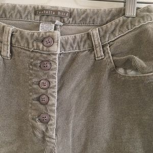 Vintage Pants - High Waisted Corduroy Trousers